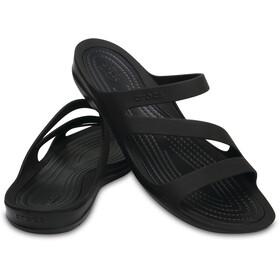 Crocs Swiftwater Sandaalit Naiset, black/black